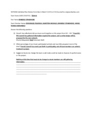 NETW206 Individual Peer Review  Form Due in Week 4 Template - team b-2