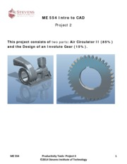 Project II - The Air Circulator and design of Involute gear