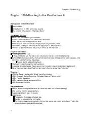 English 1080- Reading in the Past lecture 8 .docx