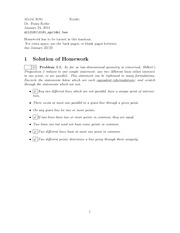 Homework A Solutions on Fundamentals of Geometry