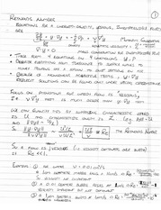 PHYS 495 Reynolds Number Notes
