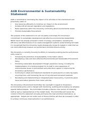 AUB Environmental and Sustainability Statement.docx