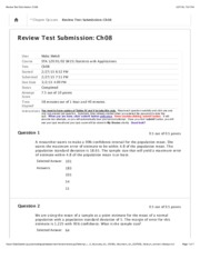 Review Test Submission: Ch08