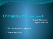 Chapter One Lecture 1