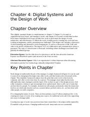 Chapter 4-Digital Systems and the Design of Work