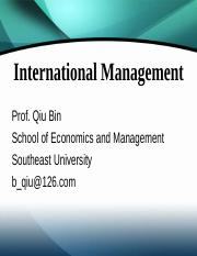 International Management--Lecture 1.ppt