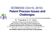 ISOM2030_L11a_Patent_Process_Issues_Challenges