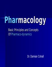 MBBS (Pharmacodynamics-Basic Concepts) Lecture 14 09 2015.ppt