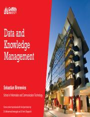 Week 3 - Data and knowledge management