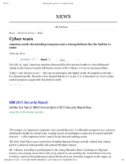 6-24-12 Chicago Tribune Cyber wars