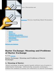 4Barter Exchange  Meaning and Problems of Barter Exchange.htm