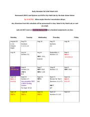 Daily Schedule 1431 Fall 2016.docx