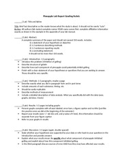 Bio 150 Pineapple Lab Report Template