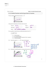 2.1-2 Radical Functions and Square Root of a Function