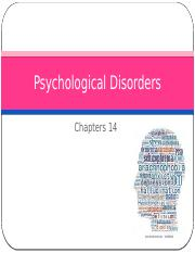 Ch 14 Psychological Disorders 4.3.17