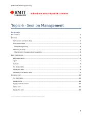 Topic 6 - Session Management