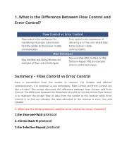 What is the Difference Between Flow Control and Error Control.doc