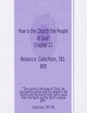 Essentials Chapter 22 - How is the Church the People of God