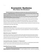 EconomicSystems-WhoMakestheDecisions