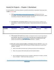 CIS2560 Ch1 Hands On Projects Worksheet.docx