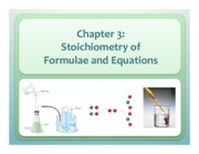 Chapter 3 Stoichiometry of Furmulae and Equations