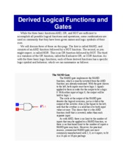 Derived Logical Functions and Gates