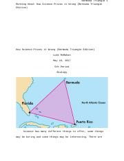 How Science Proves it Wrong (Bermuda Triangle Edition)