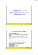 MARK2053 Week 2 (S2-2015) – 2 slides per page