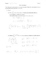 Midterm Solutions 2011
