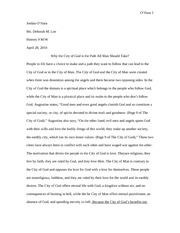 City of God Essay
