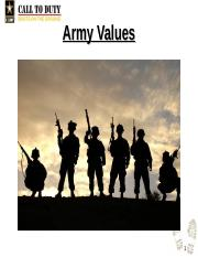 Army Values presentation