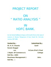 literature review on ratio analysis of hdfc bank Paper is an effort to study the growth rate in punjab national bank of india and hdfc bank limited as both the banks are giant banks in public and private sector, so a study of growth analysis of both the banks for a period of 10.
