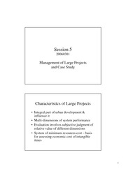 05 Management of large projects and case study