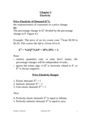 Elasticities Review