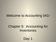 Chapter 05 - Accounting for Inventories - Day 1 - SV
