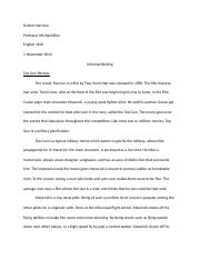 First 10 pages Informal Writing
