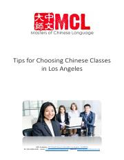Tips for Choosing Chinese Classes in Los Angeles - MCL Academy.pdf