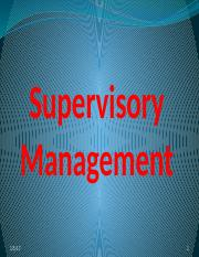 1. Supervisory Management Intoduction
