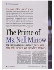 Nell Minnow Article