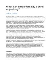 What can employers say during organizing - Text.docx