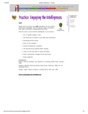 Multiple Intelligences -- self