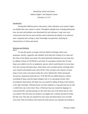 qualitative analysis part 2 anions essay Lab 3: qualitative analysis part 2- anions sameera feroz butt lab partner: ram soni thursday january 30, 2014 leilani morales chem1131-02 objective.