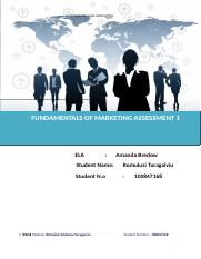 Fundamentals of Marketing Assessment 1.doc