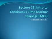 Intro to Continuous Time Markov Chains