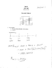 STAT 490 F11 Quiz 4 Solutions