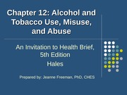 concepts of wellness ch12 alcohol and tobacco use misuse and abuse
