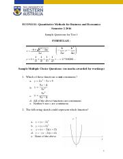 Sample questions Test 1