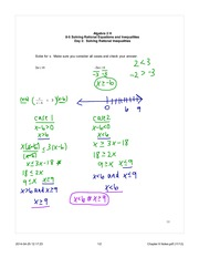 solving rational equations note day 2