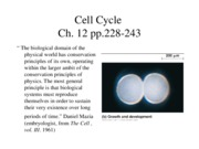 16 Cell Cycle 1