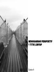 Materi Ga 1 Titik Lenyap Pdf Menggambar Perspektif 1 Titik Lenyap Gustav A Gambar Perspektif Adalah Gambar Benda Atau Ruang Yang Berkesan Tiga Dimensi Course Hero